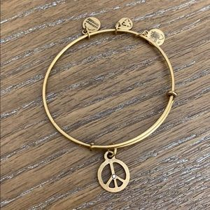 Alex and Ani Peace sign gold energy bracelet
